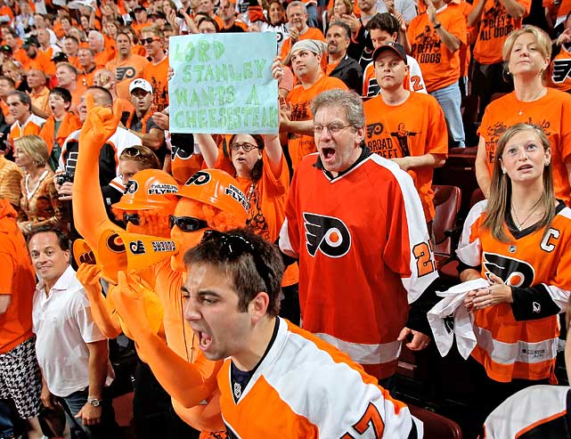Flyers fans are hungry, as their team last won the old silver bowl in 1975.