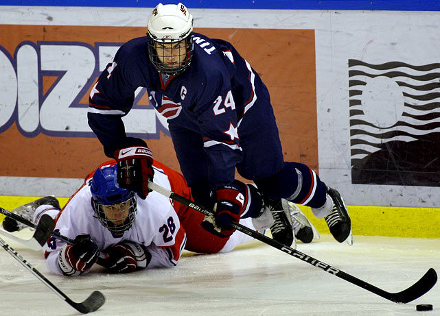 "Central Scouting says:  ""He skates very well for a big guy. He has an excellent shot from the point. He's a pretty smart player. The head's there, the hands are there, the shot's there, the skating ability is there. He's got a real, real cannon for a shot."" Final Central Scouting rank: 38"
