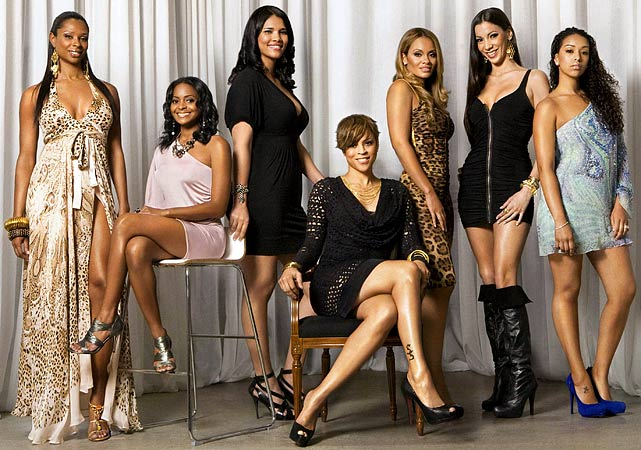 The first season of  Basketball Wives  has come to an end, but you have the reunion episode to look forward to.  And it won't disappoint. Sandra, who broke up the relationship between Suzie Ketcham (2nd from right) and Boston Celtics center Michael Olowokandi, appeared as a surprise guest. Ketcham apparently poured water on Sandra, which caused her to slip.  Ketcham was arrested and Sandra was treated by paramedics.