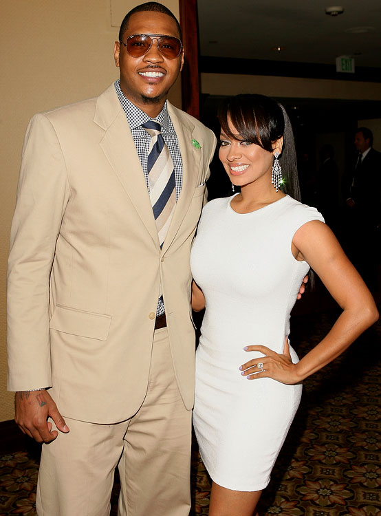 Wedding planning can be a daunting task.  That's why most husbands leave the details to their wives.  It's no different with Carmelo Anthony and fiancee LaLa Vasquez.  Except for two things.  Melo has declared complete creative control over the food and the music.  While the music selection is still up in the air, he has decided on red velvet cake.