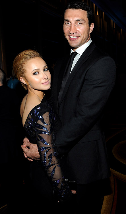 Awkward couple alert.  Hayden Panettiere took a trip to Germany and attended a WBC heavyweight fight.  Didn't know she liked boxing?  Well, she might, she might not.  But she does like her boyfriend, boxer Wladimir Klitschko, aka Dr. Steelhammer.  His brother fought in the match and scored a 10th-round knockout.