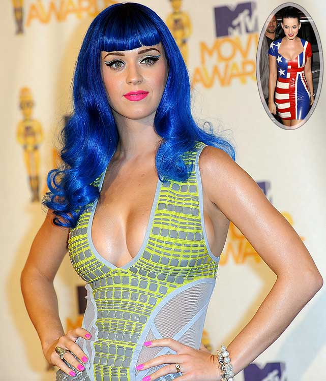 Katy Perry had quite a conundrum on her hands when the U.S. faced England in the opening round of the World Cup.  While Perry wanted to root for her own country, she also felt the need to support fiance Russell Brand's native England.  How did she solve the dilemma? By wearing a dress that featured both the Stars and Stripes and Union Jack.