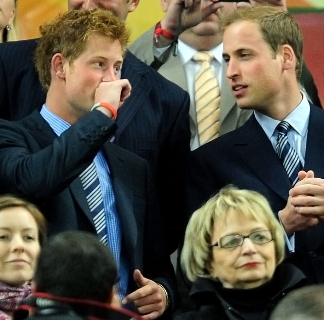"The Brits don't have too much to celebrate so far during this World Cup.  After tying the U.S. and Algeria, the country, and team, needed some cheering up.  Enter ... Prince William and Prince Harry? The brothers visited the team locker room after the game against Algeria and ""behaved like idiots"" to lighten the mood."