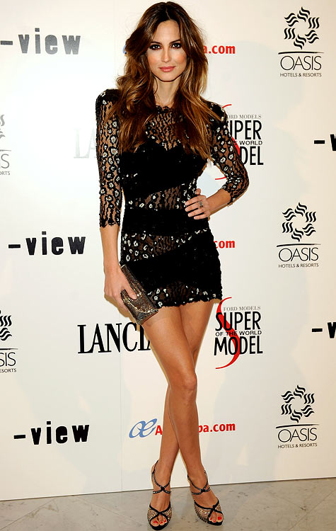 """Spanish model Ariadne Artiles, ex-girlfriend of Iker Casillas (Real Madrid), attends """"Lancia Supermodel of the World"""" party at Italian Consulate on December 15, 2009 in Madrid."""
