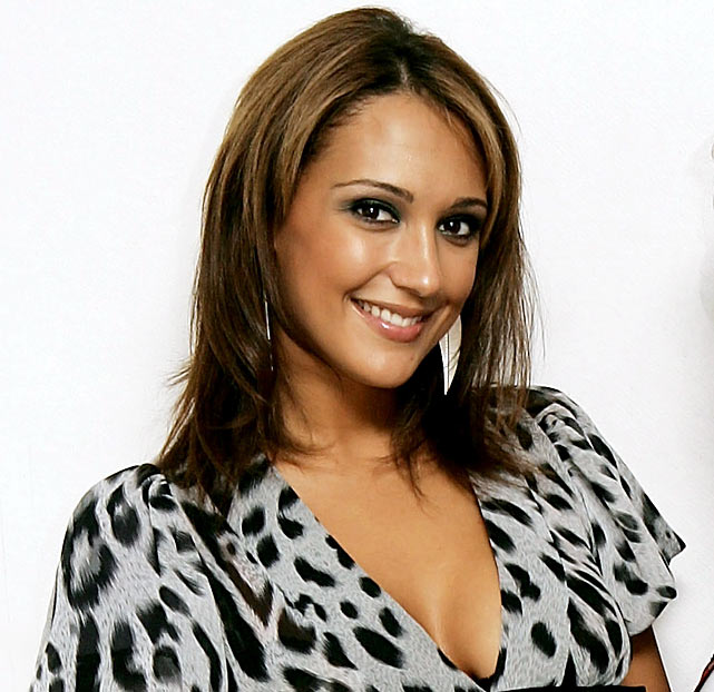 Cassie Sumner, girlfriend of Jose Fonte (Southampton), poses backstage at the filming of the video for 'Pretty Girls Rule The World,' the debut single from band '10 Reasons to Live,' at Pinewood Studios on May 31, 2007 near Slough, England.