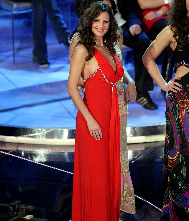 Cristina De Pin, girlfriend of Ricardo Montolivo (Fiorentina), attends the fourth evening of the 59th San Remo Song Festival at Ariston Theatre on February 20, 2009 in San Remo, Italy.