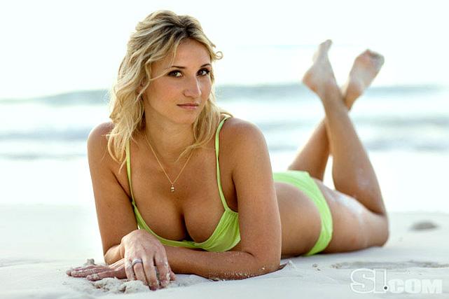 Tatiana Golovin, girlfriend of Samir Nasri (Arsenal), poses in for the 2009 SI Swimsuit Issue.