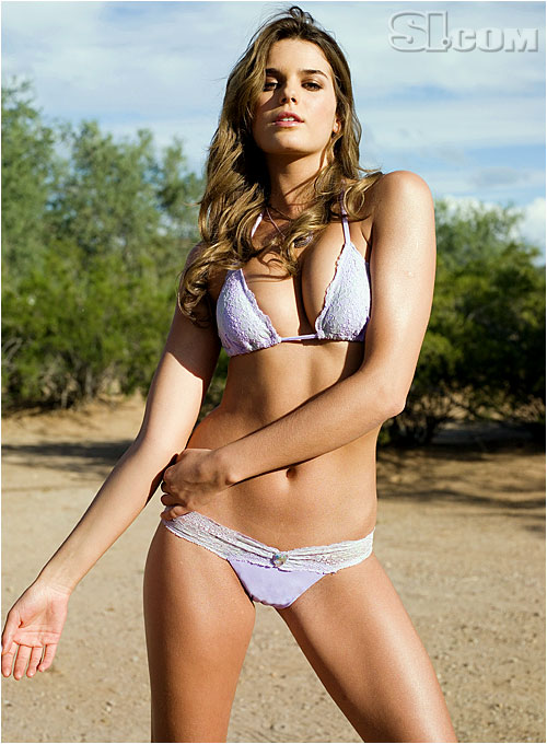 Yesica Toscanini, girlfriend of Juan Roman Riquelme (Boca), poses in for the 2007 SI Swimsuit Issue.