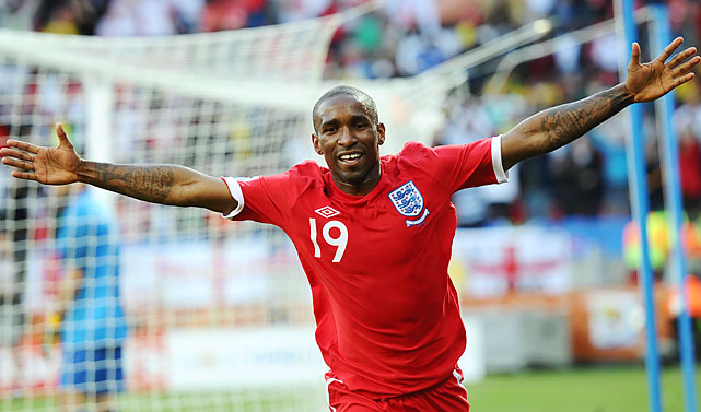 With Defoe's goal, England had plenty of bottled-up celebration to release. It hadn't scored since the 4th minute against the United States two matches ago, a streak of 198 minutes of full time.
