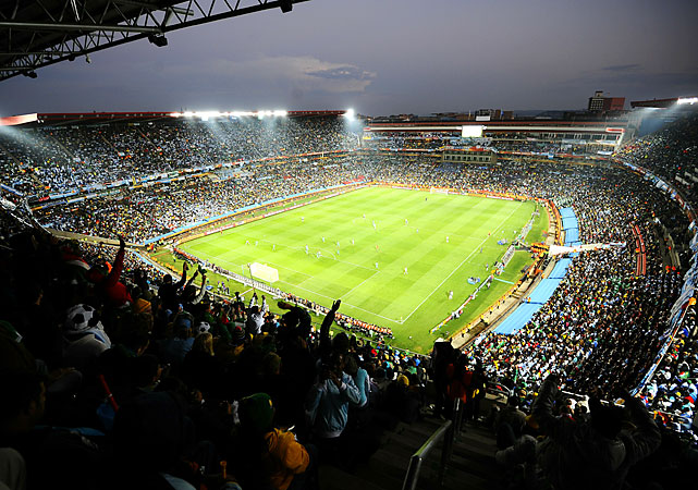 Ellis Park Stadium in Johannesburg, the site of the United States' next scheduled match against Slovenia on Friday, played host to this Group B opener.