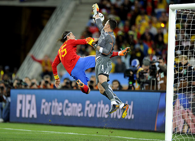 Sergio Ramos and Spain kept goalkeeper Diego Benaglio busy but couldn't break through against a Swiss side that has now gone 490 minutes without giving up a World Cup goal dating to the 2006 tournament.