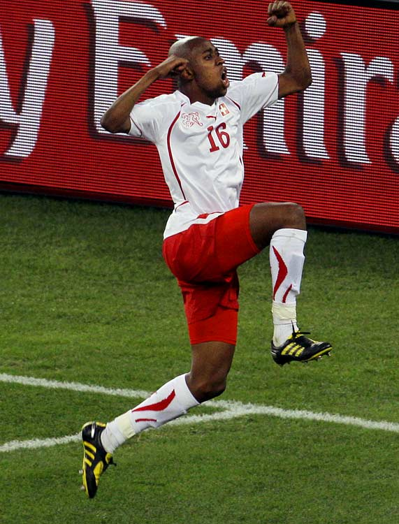 The Swiss were outshot 24-8, but Gelson Fernandes made good on his chance early in the second half.