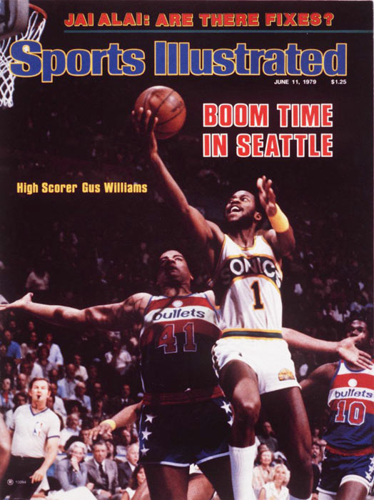 The Seattle SuperSonics, who dropped the series opener, beat Washington 97-93 in Game 5 for their fourth straight victory. It is the franchise's only NBA Championship.