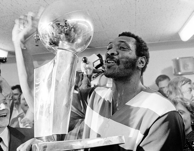 Led by Elvin Hayes, the Washington Bullets traveled to Seattle and defeated the SuperSonics 105-99 in Game 7 to win the NBA Championship.