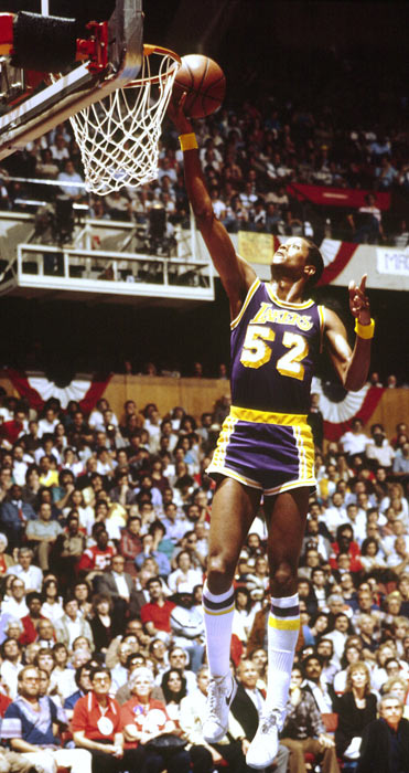Jamaal Wilkes scored 27 points and Magic Johnson posted a triple-double (13 points, 13 rebounds and 13 assists) as the Los Angeles Lakers beat Philadelphia 114-104 in Game 6 of the Finals to win their second NBA title in three years.