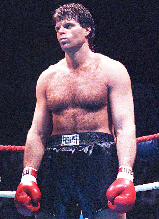 Former NY Jet Mark Gastineau wins his pro boxing fight, knocking out Derrick Dukes in 12 seconds.