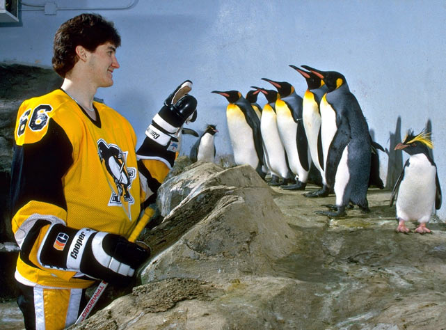 The Pittsburgh Penguins used their fist pick overall to select Mario Lemieux in the NHL Entry Draft.
