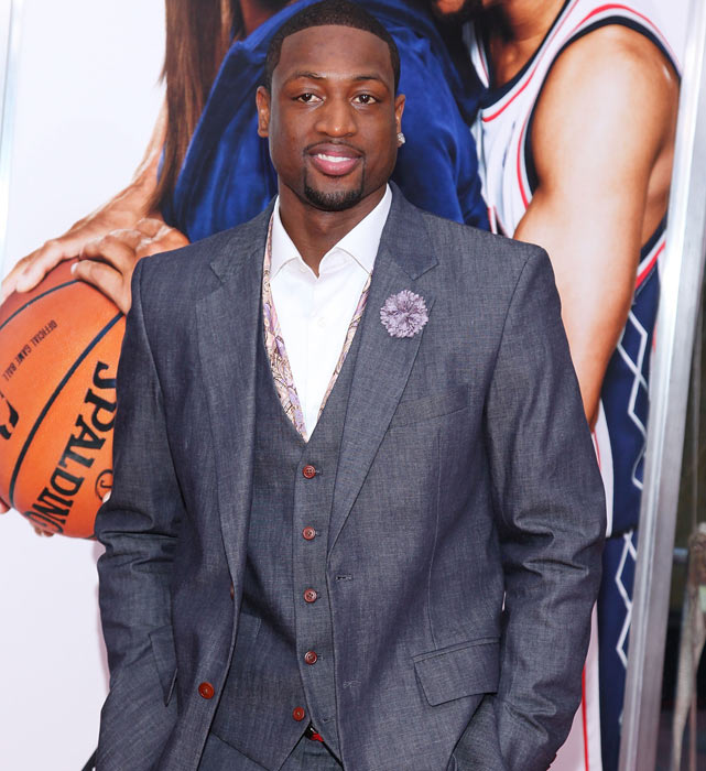Wade attends the premiere of  Just Wright  at the Ziegfeld Theatre in New York City.