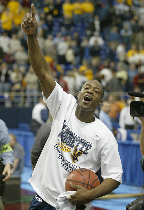 Wade celebrates after defeating Kentucky.