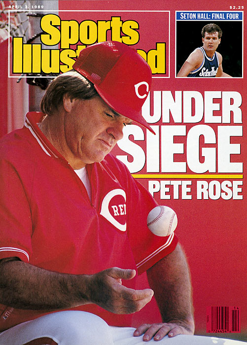 Pete Rose, Major League Baseball's all-time hits leader (4,256), is sentenced to five months in medium security prison in Marion Illinois for tax evasion.