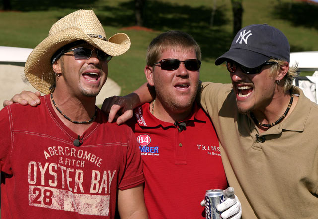 "Daly with Bret Michaels and Brett Scallion at VH1's Annual ""Fairway To Heaven"" Celebrity Golf Tournament  in West Palm Beach, Fla."