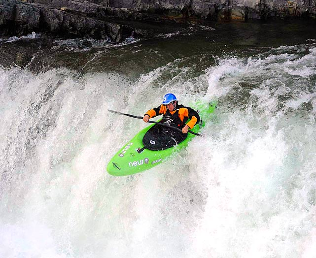 Reigning world junior champion Jason Craig goes over the falls during the U.S. National Freestyle Kayak Team Trials on July 4 in Missoula, Mont. The 16-year-old finished second.
