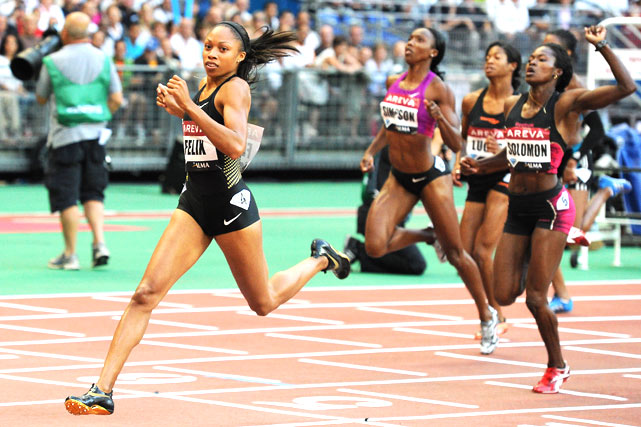 Allyson Felix of the U.S. cruises to victory in the 200m final at the Paris IAAF Diamond League meet on July 16.
