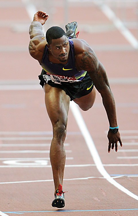 David Oliver of the U.S. wins the 110m hurdles at the Paris IAAF Diamond League on July 16.