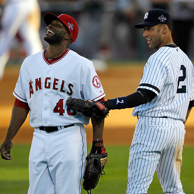 Angels outfielder Torii Hunter was the unofficial All-Star Game host this year, taking over from St. Louis Cardinals first baseman Albert Pujols in 2009 in a role that's gaining steam. Focus centered on Yankees shortstop Derek Jeter (right) after the passing of George Steinbrenner.