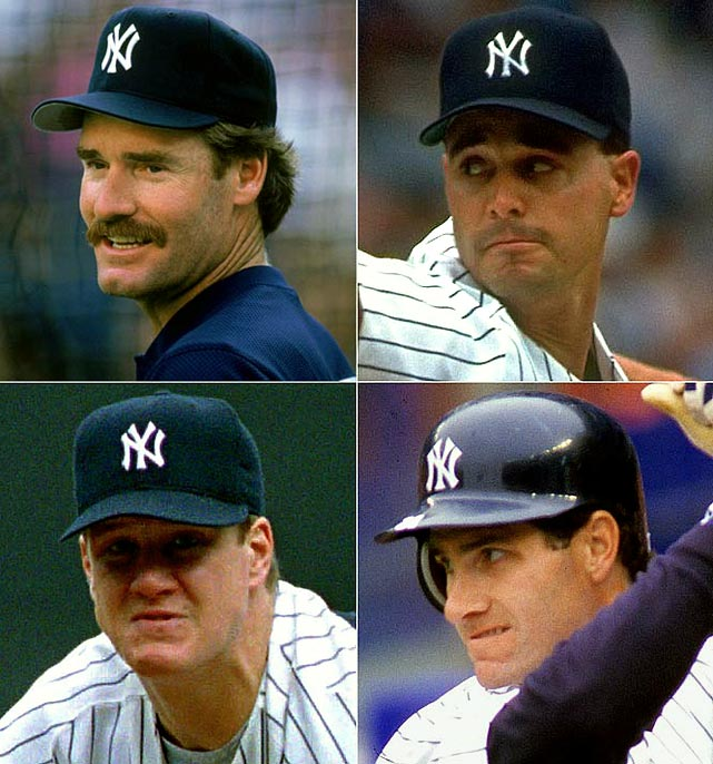 The Yankees elevate Boston's blood pressure by signing perennial Red Sox batting champion (clockwise from top left) Wade Boggs for three years at $11 million. Starting pitcher Jimmy Key signs for four years at $17 million while outfielder Paul O'Neill (Cincinnati) and pitcher Jim Abbott (Angels) arrive via trades.