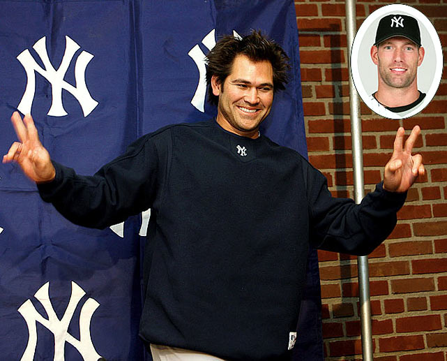 Boston is outraged as World Series hero Johnny Damon defects to the Bronx and a four-year, $52 million deal. Seeking a set-up man for closer Mariano Rivera, the Yankees hand the erratic Kyle Farnsworth a three-year pact worth $17 million.