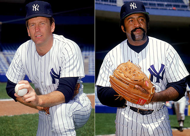 "The two-time defending World Series champions fortify their starting pitching by signing medical marvel Tommy John (four years, $1.4 million) and former Red Sox icon Luis Tiant (two years, $875,000), who later declares ""It's great to be with a wiener!"" while shilling for Yankees Franks."