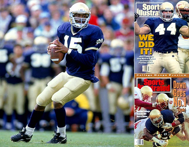 Perhaps the most hated version of the Fighting Irish because its 1993 campaign indirectly led to the playoff format that all college football fans know and love: the BCS. When Notre Dame was ranked No. 2 to close the season and Florida State was crowned national champions (Notre Dame had beaten the Seminoles head-to-head), Irish coach Lou Holtz and fans cried foul over the lack of a sanctioned national title game.