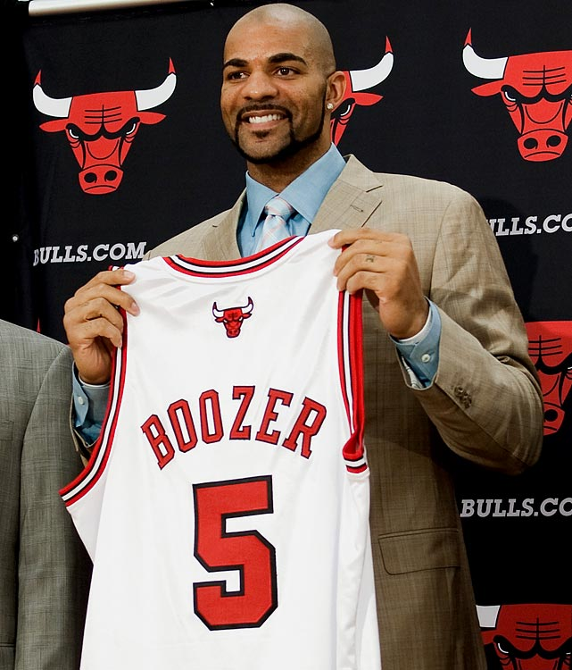 The Bulls have searched for a couple of years for an inside scorer, and they landed one in Boozer, who averaged 19.5 points on 56.2 percent shooting to go with 11.2 rebounds for Utah last season. Boozer, who will be paid more than $75 million over five years, spent the past six seasons with the Jazz.