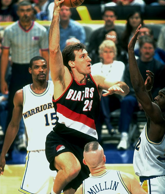 Chris Dudley may have been known for his hapless free-throw shooting (he converted 45.8 percent with a release that was as unsightly as his accuracy), but the 6-foot-11 center did manage to stick in the NBA for 16 seasons split among five teams from 1987-2003. And with that longevity came $38 million in earnings, according to Basketball-Reference.com, a healthy haul for a backup big man with career averages of 3.9 points and 6.2 rebounds. In May 2010, Dudley won the GOP nomination for Oregon governor. The election is in November.