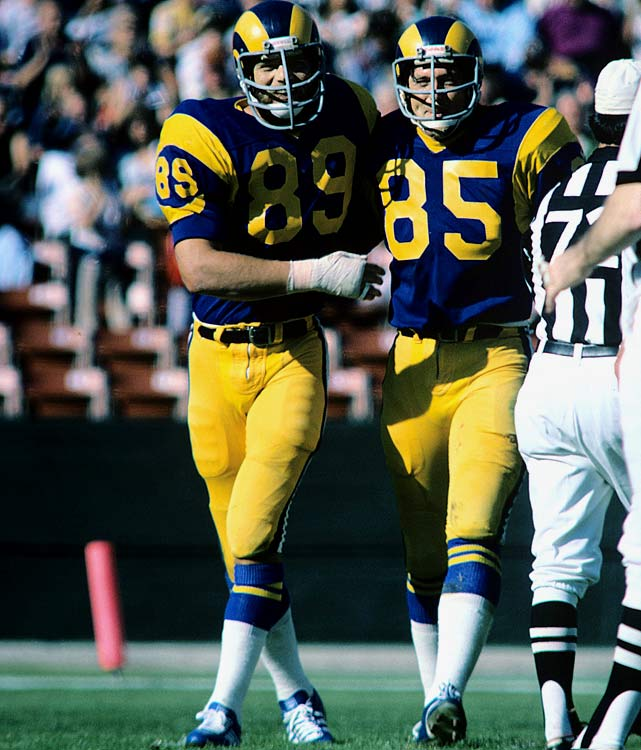 The Los Angeles Rams' defensive line duo of Fred Dryer and Jack Youngblood formed quite a pair. Youngblood led the team with 15 sacks, and Dryer wasn't far behind with 12. Both players earned trips to the Pro Bowl that season.