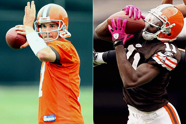 The quarterback merry-go-round continues in Cleveland after Brady Quinn and Derek Anderson were both run out of town, and Carolina Panthers cast-off Jake Delhomme was given the reins. 2009 second round draft pick Mohamed Massaquoi looks to build on a very nice rookie year and provide Delhomme with a go-to target in the red zone.