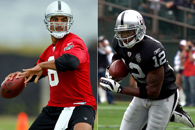 By most accounts, Darrius Heyward-Bey is putting his terrible rookie year behind him with strong performances in mini-camps and during the Raiders' offseason program, finding a nice rhythm with new quarterback Jason Campbell. Campbell will need Heyward-Bay to perform if he hopes to re-start his NFL career that stalled badly in Washington.  Send comments to siwriters@simail.com.