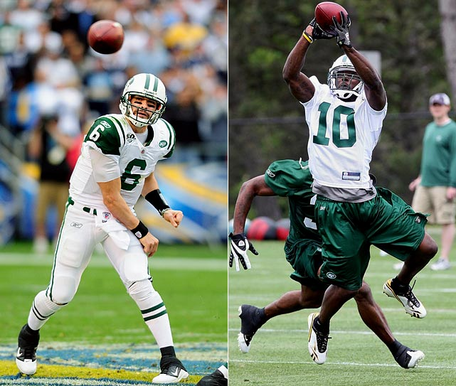 The Jets added to their offseason domination by picking up the troubled Holmes for just a sixth-round draft pick. Holmes will miss the first four games after being suspended for a violation of the NFL substance abuse policy, but should see a lot of single coverage when he returns, lining up opposite Braylon Edwards.