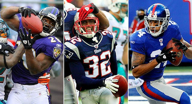 Reed: 8 interceptions, 1 forced fumble McCourty: 7 interceptions, 2 forced fumbles Thomas: 5 interceptions, 4 forced fumbles   Reed bounced back from a relatively quiet 2009 -- at least for his standards -- with eight picks and a forced fumble in just 10 games last season. Meanwhile, McCourty burst onto the scene in his rookie year, earning an All-Pro selection and a trip to the Pro Bowl with seven interceptions and two strips. USC product Thomas made his living ripping the ball away from the offense, placing third among all corners, with four forced fumbles.