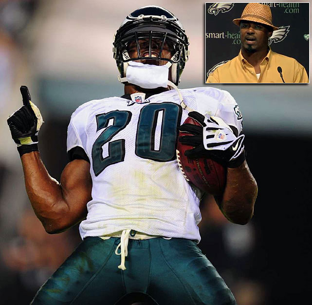 "An eminent presence because of his ferocious hits, Brian Dawkins commandeered the Philadelphia secondary for 13 seasons and helped establish one of the most intimidating pass defenses in the NFL. A nine-time Pro Bowl selection, Dawkins was the first player to record a sack, an interception, a fumble recovery and a touchdown reception in the same game when he did it against Houston in 2002. Known by his alter-ego ""Wolverine,"" the passionate Dawkins signed a one-day contract on April 28, 2012, to retire with the Eagles after three seasons with Denver. The Eagles may still want him back. The Eagles were the third-ranked pass defense in 2008 before Dawkins' departure, after he left, they dipped to 17th in 2009. Philadelphia has ranked no higher than 10th in the category since 2009."