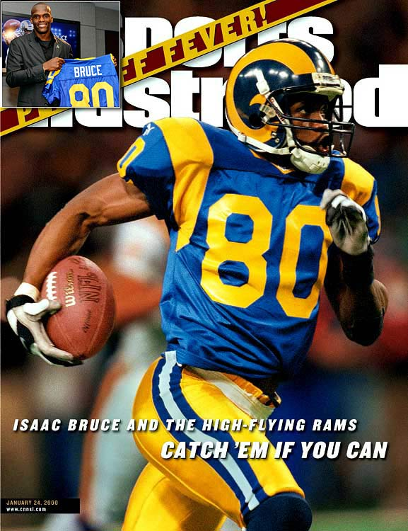 "The last active member of the old Los Angeles Rams and another integral part of ""The Greatest Show on Turf"" along with Torry Holt, Bruce was traded back to the Rams on June 7, 2010 so that the could retire with the franchise that drafted him in 1994. Bruce caught 921 passes, including 81 touchdowns, in 13 seasons with the Rams."