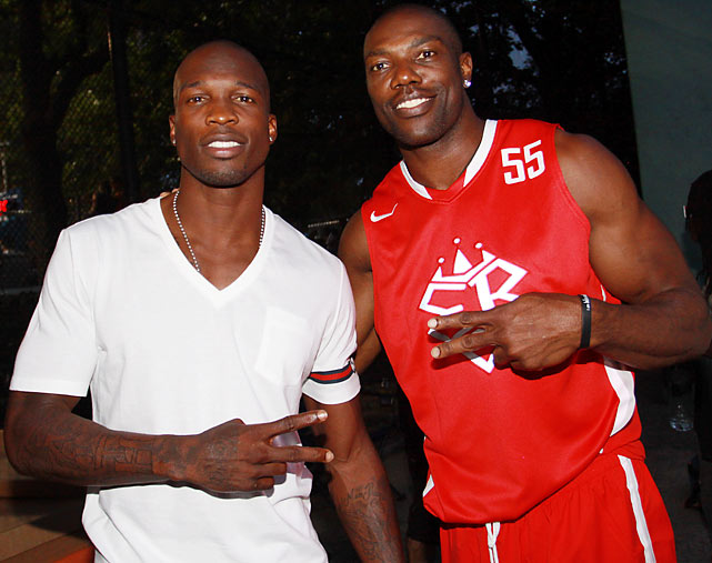 Owens attended the Entertainer's Basketball Classic at New York's Rucker Park this year, perhaps laying the groundwork for he and Ochocinco to play football together this season? The celebration possibilities are endless.