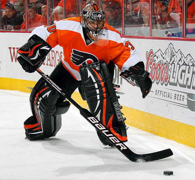 "The Flyers' eternal search for a reliable, championship-caliber goaltender led them to sign seven-year veteran and 2010 Vezina-finalist Ilya Bryzgalov to a long-term deal in June 2011. ""When you get a goalie you view as an upper-echelon goalie,"" Flyers GM Paul Holmgren told the media, ""you know you have to pay him."" The front-loaded contract paid Bryzgalov $10 million during his first season in Philadelphia, a campaign marked by struggle, inconsistency, self-doubt and a certain amount of charming eccentricty (as viewers of HBO's  24/7 Road to the Winter Classic  series can attest). In the playoffs, the Flyers upset the heavily-favored Penguins in the first round, but still came up short in their quest for the chalice. Holmgren sent his star netminder home for the summer with the suggestion that he sharpen his focus."