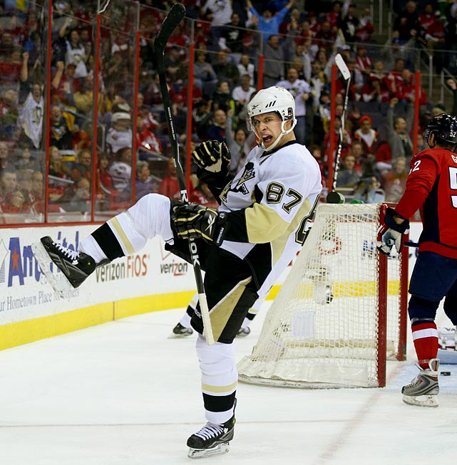After his first two seasons, during which he won the Art Ross (scoring), Hart and Pearson trophies (MVP), the Penguins gave their superstar captain an extension that will keep him off the free agent market until 2013. He'll earn about $9 million per season until 2011-12, with the final year worth $7.5 million.