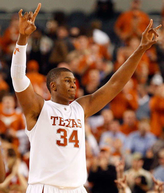 The Heat selected Dexter Pittman out of Texas with the 32nd  pick in the 2010 draft. The mammoth center (6-11, 308 pounds) averaged 10.4 points, 5.9 rebounds and 1.9 blocks for the Longhorns last season and reportedly shed as much as 100 pounds since high school. Pittman signed a three-year deal and was one of three rookies selected by the Heat in this year's draft along with Da'Sean Butler and Jarvis Varnado.