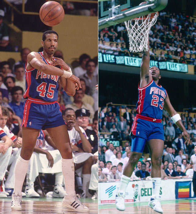 Adrian Dantley, who was the team's highest paid player ($1.25 million/year), was traded to Dallas midseason in exchange for Mark Aguirre. The move bolstered the Pistons offense as Aguirre added 14 points per game.