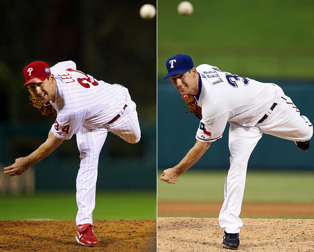 For the second straight season, Cliff Lee was dealt to a contender before the July 31 trade deadline. In 2009, the Phillies acquired the left-hander and reaped the benefits. The former AL Cy Young winner went 4-0 with a 1.56 ERA in the postseason, including 2-0 in the World Series. This year, the Rangers are hoping Lee can do the same. Texas traded rookie first baseman Justin Smoak and three minor leaguers to the Mariners in exchange for the nomadic pitcher.