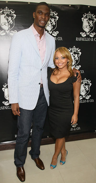 Chris Bosh and his date, Adrian Williams, attend the NBA Draft Week kick off party in New York City.