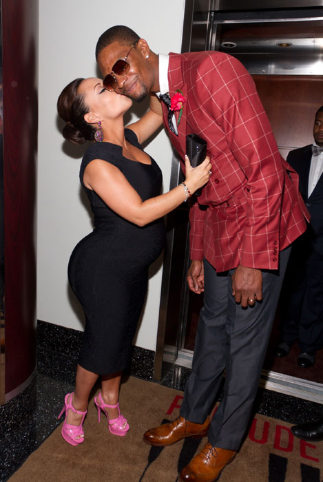Adrienne and Chris Bosh attend a Casino Night party in Miami during an offday in March 2012.